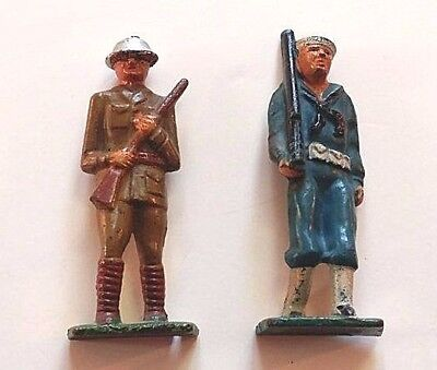 WWI Doughboy Soldier & Sailor Grey Iron toy soldiers