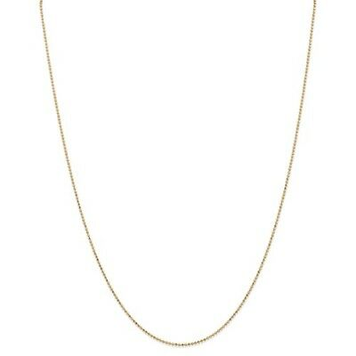 14k Yellow Gold 24in 1.2mm D/C Baby Ball Necklace Chain