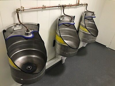 Hand crafted beer barrel / keg urinals, ideal for bars and restaurants