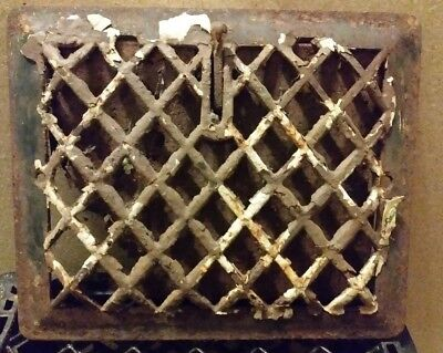 cast iron antique heating grates vents 11in x 9 1/4 in.