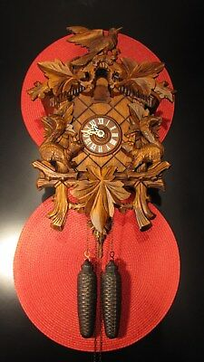 Stunning Regula German Black Forest 8-Day Movement Cuckoo Clock - Works !