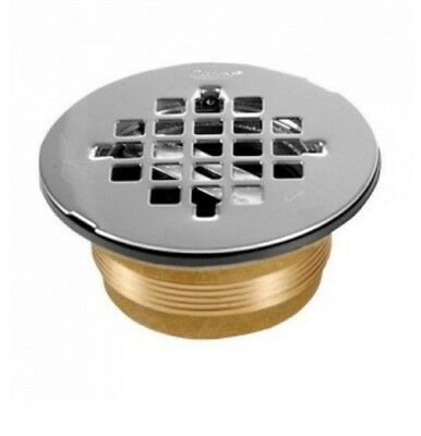 """Oatey, 42150 140 Series 2"""" NC Brass Shower Drain with Stainless Steel Strainer"""