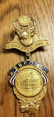 BPOE Elks Chester Lodge 488 Elk Badge Medal
