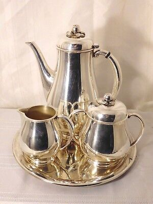 vintage Silverplate Tea Set With Tray Wilcox APPLE pattern