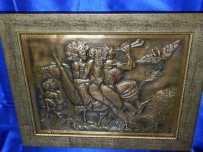 RARE Copper Relief of Greek Celebration of Dionysus EXC