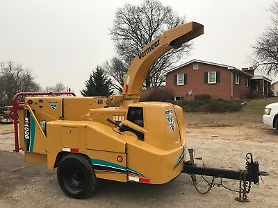 Vermeer Bc1000Xl Wood Chipper Drum Chipper Cummins Diesel Engine Bob Cat Grinder
