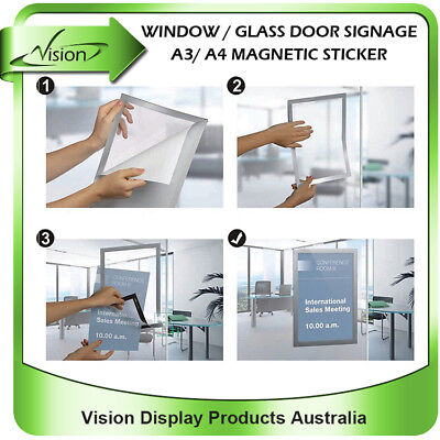 A3/ A4 real estate agent window glass display poster magnetic self cling sticker