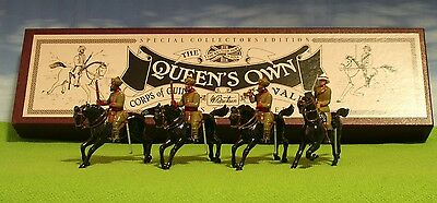 Britains - Queens Own Corps Of Guides Cavalry #8835 - 4X Lead Figure Set Mib -Z