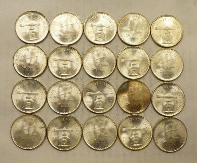 1979 Mexican Onza - Balance Scales - 1 oz Silver Coins .925 - Roll of 20 (Lot #2
