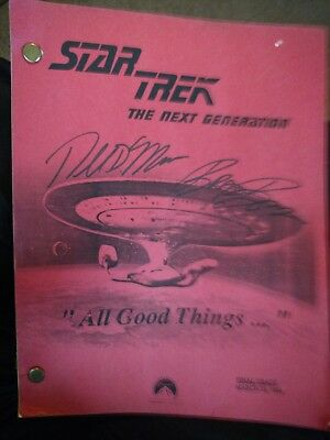 """Star Trek Next Generation """"all Good Things"""" Script Autographed March 10, 1994"""