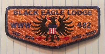 Black Eagle Lodge 482 55th Anniversary Flap S35