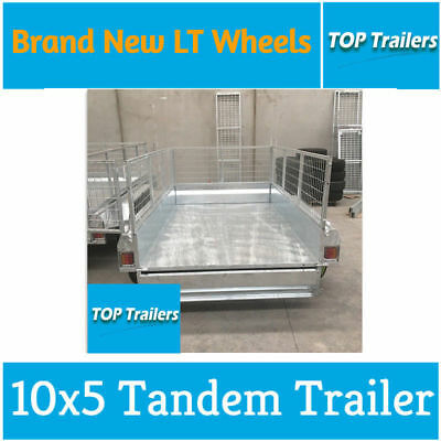 10x5 tandem entry model trailer galvanised 600 cage fully weld checker plate