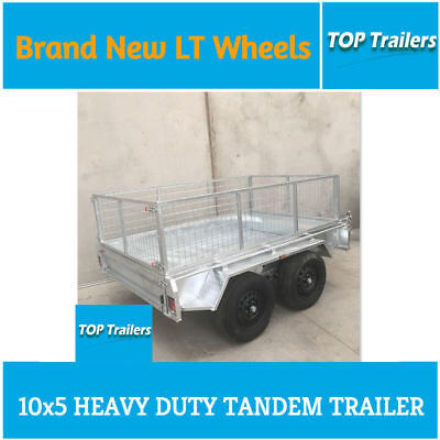 10x5 tandem trailer galvanized fully weld checker plate floor entry model