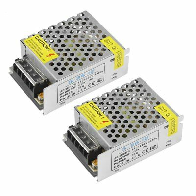 2PCS Mini Regulated Switching Power Supply DC 12V 3A 36W For LED Strip Light PRO
