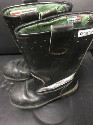 Rare Vintage Jolly Crosstech Italy Firefighting Boots Size 10 W Fireman Fire Exc