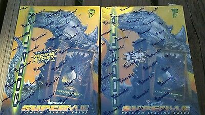 2  godzilla sealed collecter card boxes