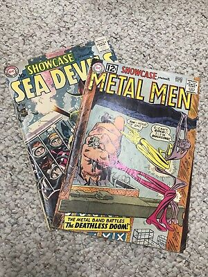 2 Book Lot Showcase #39 July-Aug 1962 3rd app. Metal Men and Showcase #28