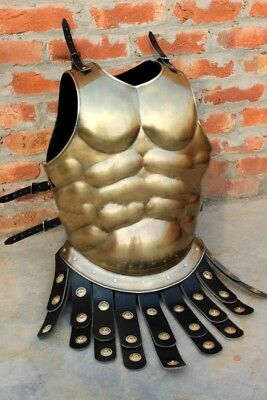 Medieval Viking Steel Muscle Body Armor Chest Protection Greek Roman Costume NK
