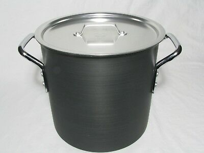 Vintage Calphalon Commercial 12 qt Stockpot with Lid, 812, Anodized Aluminum