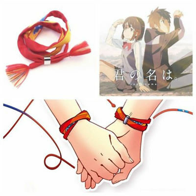 Movie Kimi no Na wa Your Name Miyamizu Mitsuha Bracelet Chain Jewelry Cosplay