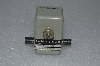 Merrimac Model Ab-27-30 Variable Attenuator  Witn Bnc Connectors