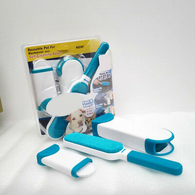 New Hurricane Fur Wizard Pet Hair Lint Remover Clear Clothes Fabric Brush AU