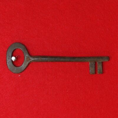 Antique KEY 17th-19th C. English Castle Door Church Jail House Lock 6.375""