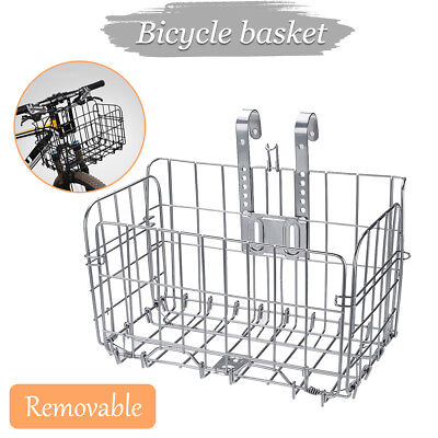 Foldable Bicycle Quick Release Bike Basket for Front Rear Extra Storage Baskets