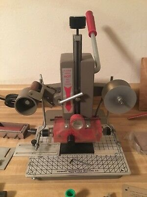 Franklin Model 115 Hot Foil Stamping Embossing machine  Many extras