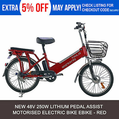 NEW Electric Bike Motorised Chopper Cruiser Uber Ebike TRICYCLE Battery 48V 250W