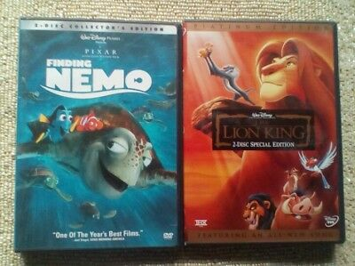 DISNEY & PIXAR DVD LOT Finding Nemo Lion King LOT OF 2