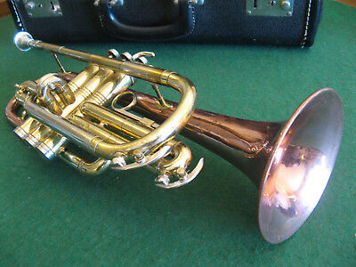 Conn 17A Coprion Director Cornet with Case and Bach 7C Mouthpiece - Refurbished