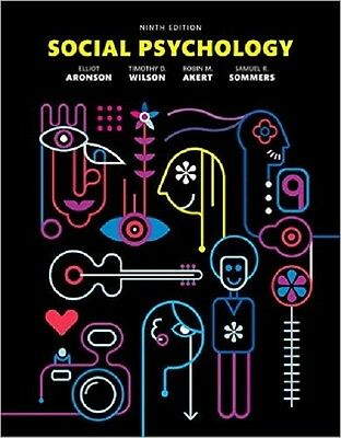 Social Psychology by Aronson 9th International Softcover Edition Same Book