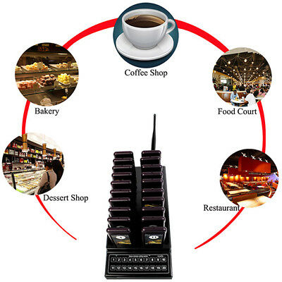 BUSCAPERSONAS Coaster Pager Guest Call Wireless Paging Queuing Calling System