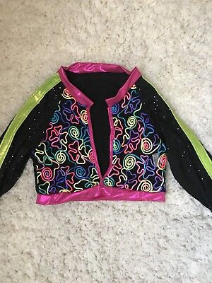 CURTAIN CALL Dance Costume Neon Top Vest Blouse