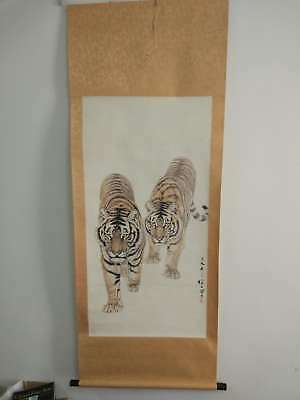 Excellent old Chinese Scroll Painting By Liu Jiyou 刘继卣 tiger NY04