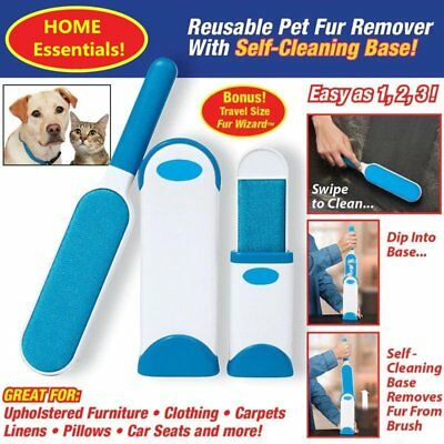 Hurricane Fur Wizard Pet Fur & Lint Remover Portable Hand-held Removal Device YT