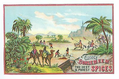 Nice Bohsemeem Spices Weikel & Smith Spice Co. Philadelphia Victorian Trade Card