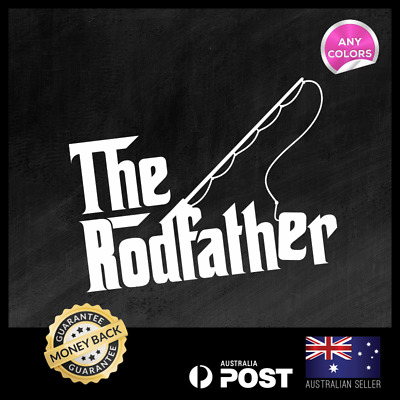 The Rodfather 250x180mm Funny Fishing Shimano Sticker Decal Vinyl Car Ute 4x4
