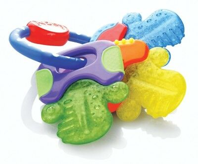 Nuby Icybite Hard/Soft Drooling Baby Infant Teething Keys Easy Grip Teether Toy