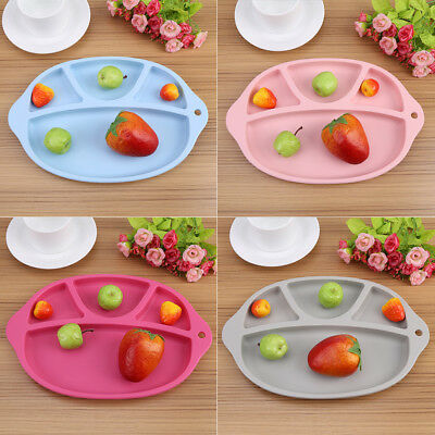 One-piece Silicone Mat Baby Table Food Dish Non-slip Tray Placemat Plate Bowl