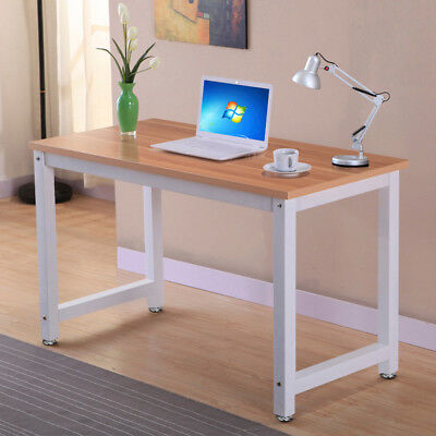 Home Office Study Corner Desk Computer PC Writing Table WorkStation Wooden Metal