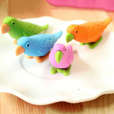 Cute School Gift Parrot Model Stationery Rubber New Toy Eraser Office Pencil