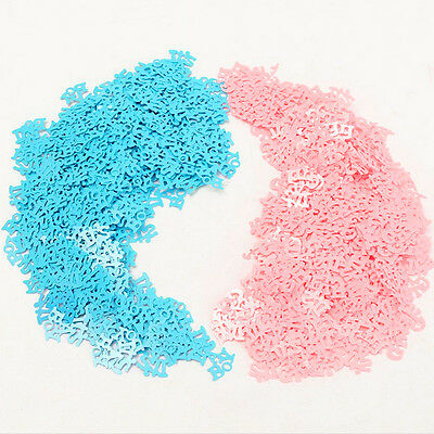 Baby Shower Confetti Table Sprinkles Birthday Party Decoration Pink/Blue