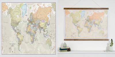 World Map Classic - Front Sheet Lamination Wall A1 84.1 (w) x 59.4 (h) cm