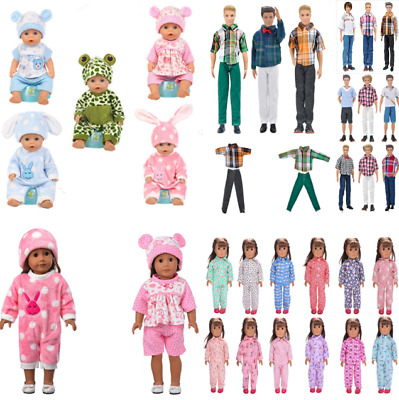 Baby Girls Boys Doll Clothes Nightgown Pajamas Wear Jacket Pants Barbie Ken Gift