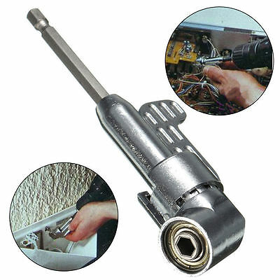 Adjustable Steel 105° Right Angle Driver Hex Screwdriver Holder Power Drill Bit!