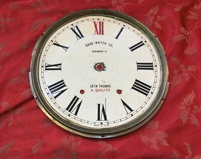 Fabulous Seth Thomas Advertising Clock Dial Babu Watch Co Madras