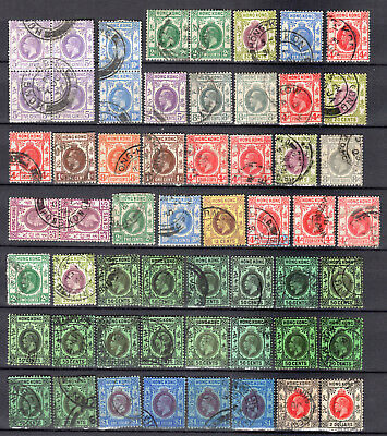 Hong Kong China 1912-1937 Kgv Selection Of Used Stamps Pmk Interest