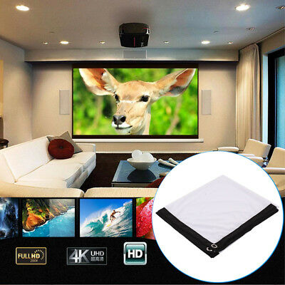 Polyester 60 Inch Soft Portable Projector Screen Projection Curtain Indoor